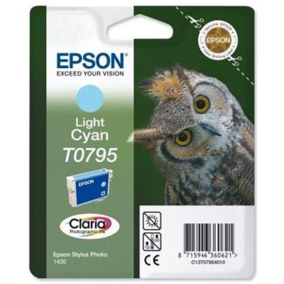 Cartus cerneala Original Epson Cyan C13T07954010 compatibil Stylus Photo 1400... foto