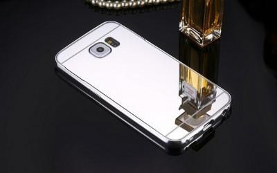 Husa Samsung Galasy S6 Egde TIP OGLINDA ARGINTIE ( SILVER ) foto