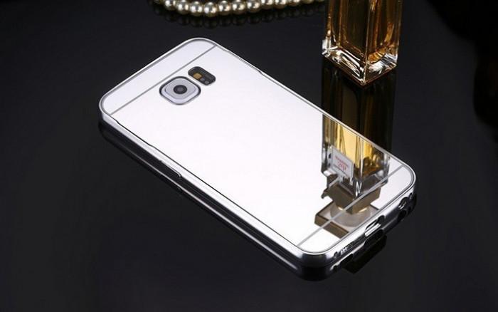 Husa Samsung Galasy S6 Egde TIP OGLINDA ARGINTIE ( SILVER ) foto mare