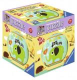 PUZZLE 3D BUFNITA SI ELEFANT, 54 PIESE, Ravensburger