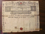 "PVM - ""Diploma de Mester"" 1862 pe nume Erdely Nagy Istvan Imperiul Austro Ungar"