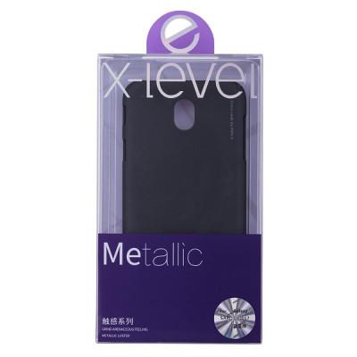 Husa Elegance Luxury X-LEVEL Metalic Black pentru Samsung Galaxy J7 2017 foto
