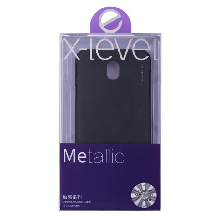 Husa Elegance Luxury X-LEVEL Metalic Black pentru Samsung Galaxy J7 2017