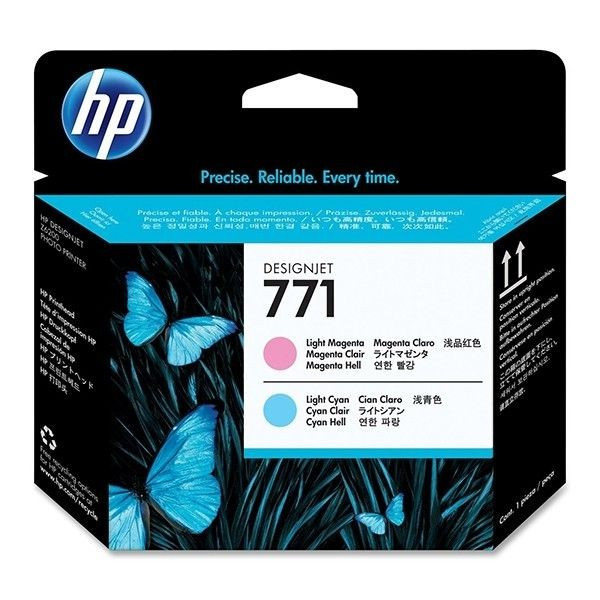 Cartus cerneala Original HP Magenta Light+Cyan Light 771 Printhead, compatibil...