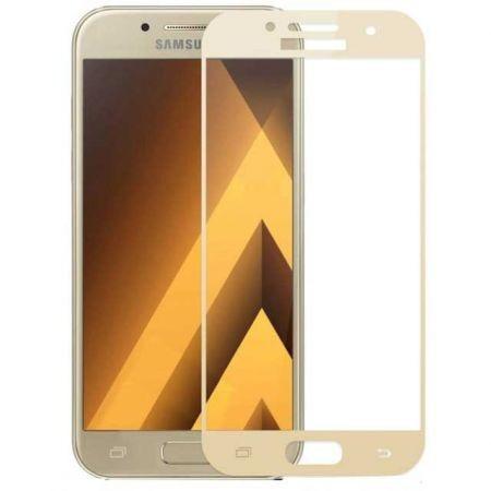 Folie de sticla 3D aurie compatibila cu Samsung Galaxy A5 2017 ( GOLD )