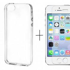 Pachet husa Elegance Luxury TPU slim pentru Apple iPhone 5 / Apple iPhone 5S / Apple iPhone 5SE cu folie de sticla gratis