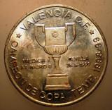 2.872 JETON SPANIA CAMPIOANA VALENCIA C. F. SPORT FOTBAL 1999 28mm COPA DEL REY