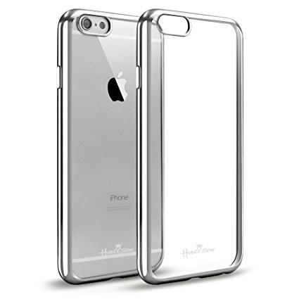 Husa Elegance Luxury placata Silver pentru Apple iPhone 6 Plus / Apple iPhone 6S Plus foto mare