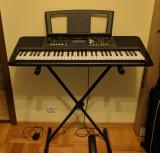 Orga Yamaha PSR-E333 + husa, stativ, pedala sustain, incarcator