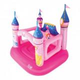 Castel gonflabil, pentru fetite cu tematica  Disney Princess, 1.57x1.47x1.63 m, 2-4 ani, Fata, Roz