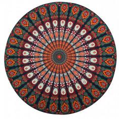 U713-119 Esarfa de plaja cu imprimeu Mandala