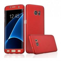 Husa 360 grade pentru Samsung S6 Edge ROSIE cu folie de protectie inclusa ( RED )