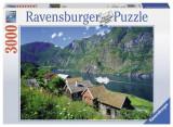 Puzzle FIORDUL SOGNEFJORD, NORVEGIA 3000 piese, Ravensburger