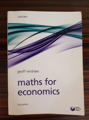 Geoff Renshaw, MATHS FOR ECONOMICS (2ND EDITION) foto