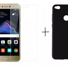 Pachet husa Slim Antisoc Black Huawei P8 / P9 Lite 2017 + folie protectie gratis