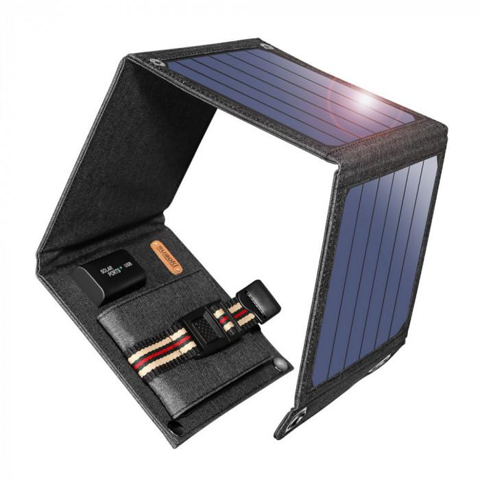Incarcator solar 1 usb, 5V, 2A putere 14W nou