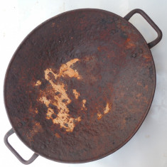 OBOROC MINIER / DE MINER - FACUT DIN TABLA GROASA OTELITA - VECHI ANII 1900!