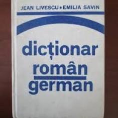 JEAN LIVESCU DICTIONAR ROMAN GERMAN