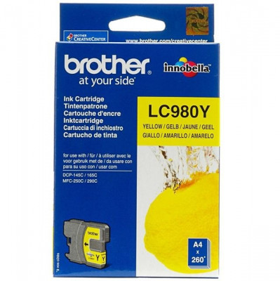 Cartus cerneala Original Brother Yellow LC980Y compatibil... foto