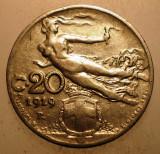 2.885 ITALIA 20 CENTESIMI 1919, Europa, Nichel