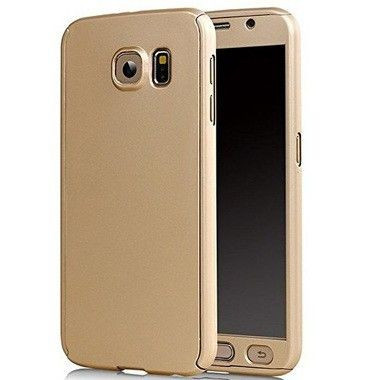 Husa FullBody Elegance Luxury Gold pentru Samsung Galaxy S6 acoperire completa 360 grade cu folie de protectie gratis foto