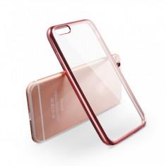 Husa Elegance Luxury placata Rose-Gold pentru Apple iPhone 6 Plus / Apple iPhone 6S Plus