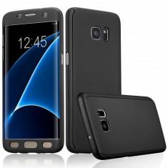 Husa FullBody Elegance Luxury Black pentru Samsung Galaxy S7 Edge acoperire completa 360 grade cu folie de protectie gratis