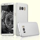 Husa FullBody  Silver Samsung Galaxy S8 Plus 360 grade + folie protectie