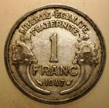 2.876 FRANTA 1 FRANC 1947, Europa, Aluminiu