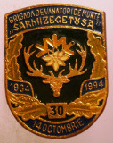 I.764 ROMANIA INSIGNA MILITARA VANATORI DE MUNTE  BRIGADA 2 SARMIZEGETUSA 1994, Romania de la 1950