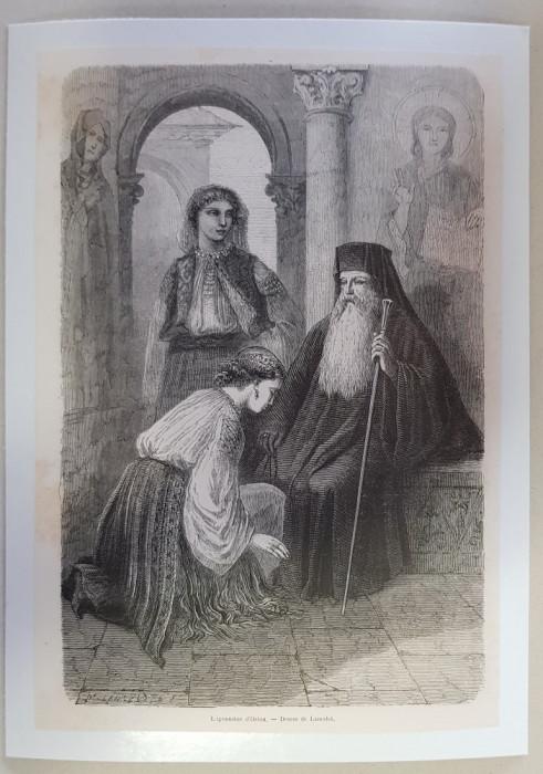 Gravura Manastirea Horezu