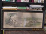 PREZIOSI - COLENTINA (cromolitografie din albumul Bucurestii in 1869), Peisaje, Pastel, Altul
