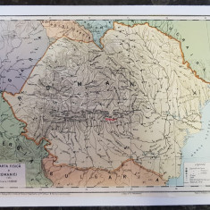 Harta Romania Fizica