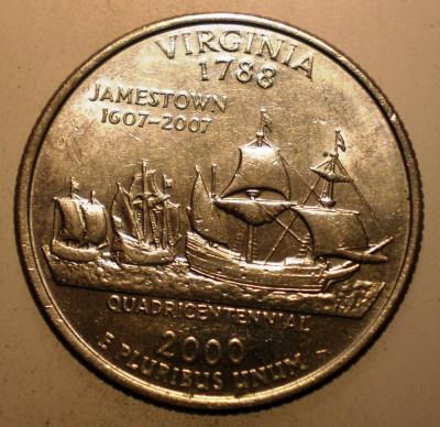 2.999 USA SUA QUARTER DOLLAR VIRGINIA 2000 D foto