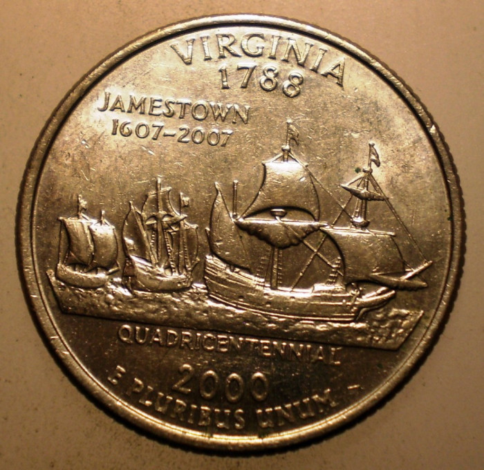 2.999 USA SUA QUARTER DOLLAR VIRGINIA 2000 D