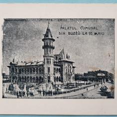 Carte Postala Palatul Comunal Buzau, Necirculata, Printata