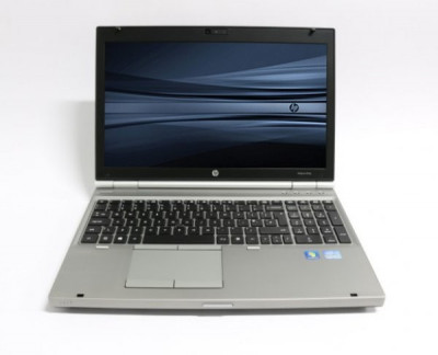 Laptop HP EliteBook 8570p, Intel Core i5 Gen 3 3210M, 2.5 GHz, 4 GB DDR3, 320 GB HDD SATA, DVDRW, WI-FI, WebCam, Tastatura QWERTY UK RF, Display foto