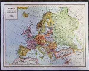 Harta Politica Europa cu Noile Frontiere