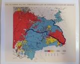 Harta Romania - Ponderea limbilor germanice in Ardeal