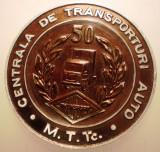 5.179 ROMANIA MEDALIE CENTRALA DE TRANSPORTURI AUTO MTTC CFR RATA DGTA CTA 1984