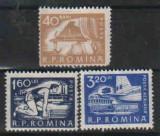1960 Romania,LP 498-DEPARAIATE,Uzuale(val.40 BANI;1,60 LEI;3,20 LEI)-MNH, Nestampilat