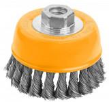 Perie cupa din sarma rasucita cu piulita 100 mm (Industrial) pt SCULE ELECTRICE