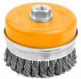 Perie cupa din sarma rasucita cu piulita (conditii dificile) 100 mm (Industrial)