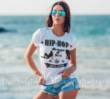 Tricouri HIP-HOP GEN BUG MAFIA, 20 CM RECORDS, PARAZITII, CHELOO, OMBLADON, L, M, S, XL, XXL, Maneca scurta, Alb, Negru