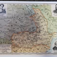 Harta Principatele Romane