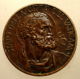 F.045 VATICAN PAPA PIUS XI 10 CENTESIMI 1931, Europa, Bronz