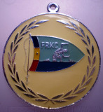 5.167 ROMANIA MEDALIE SPORT FRKC FEDERATIA ROMANA DE KAIAC CANOE 1978 50mm