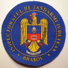 5.506 ROMANIA ECUSON INSPECTORATUL DE JANDARMI JUDETEAN BRASOV 9,5cm