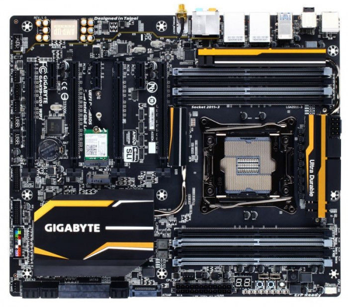 Placa de baza GIGABYTE X99-UD5 WIFI, Intel X99, LGA 2011-v3