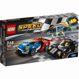 Set de constructie LEGO Speed Champions Ford GT 2016 & Ford GT40 1966